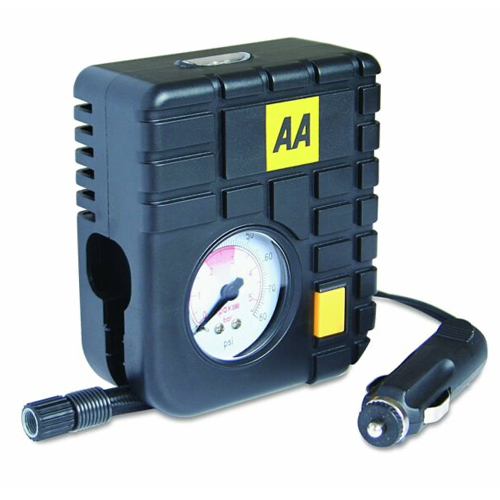AA Car Essentials Mini Analogue Air Compressor/Tyre Inflator