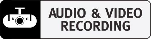 Video-Audio Recording Vehicle Sticker