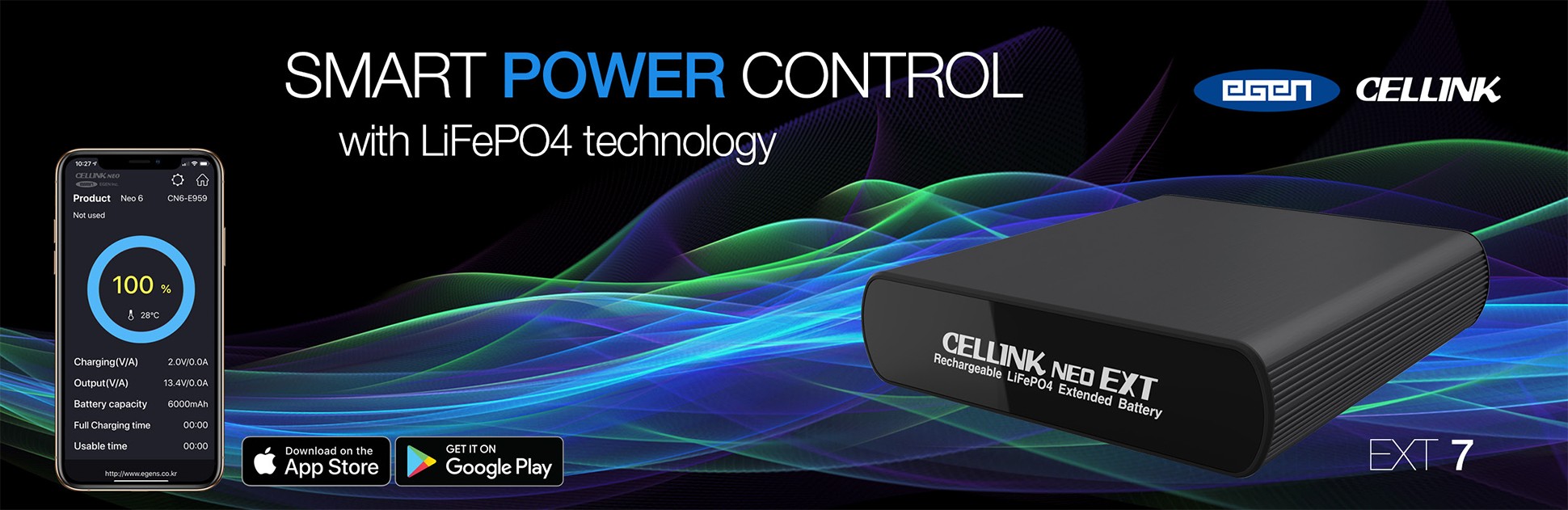 CELLINK NEO EX7 The Ultimate Supplementary Dash Cam Power Source.