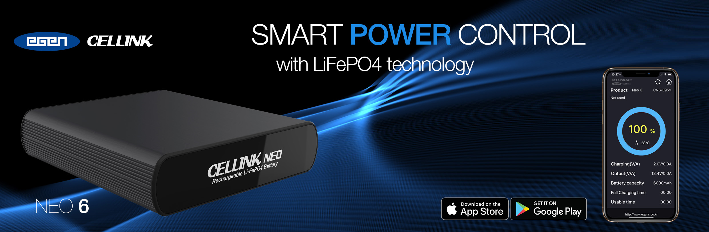 CELLINK NEO 6 The Ultimate Supplementary Dash Cam Power Source.