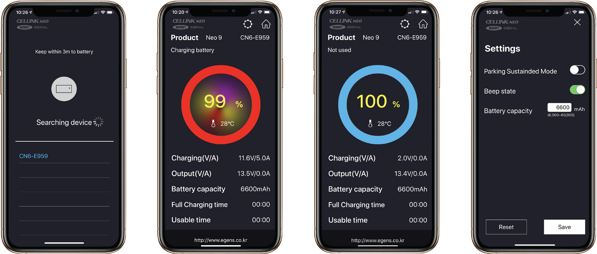Cellink Neo Battery Manager App