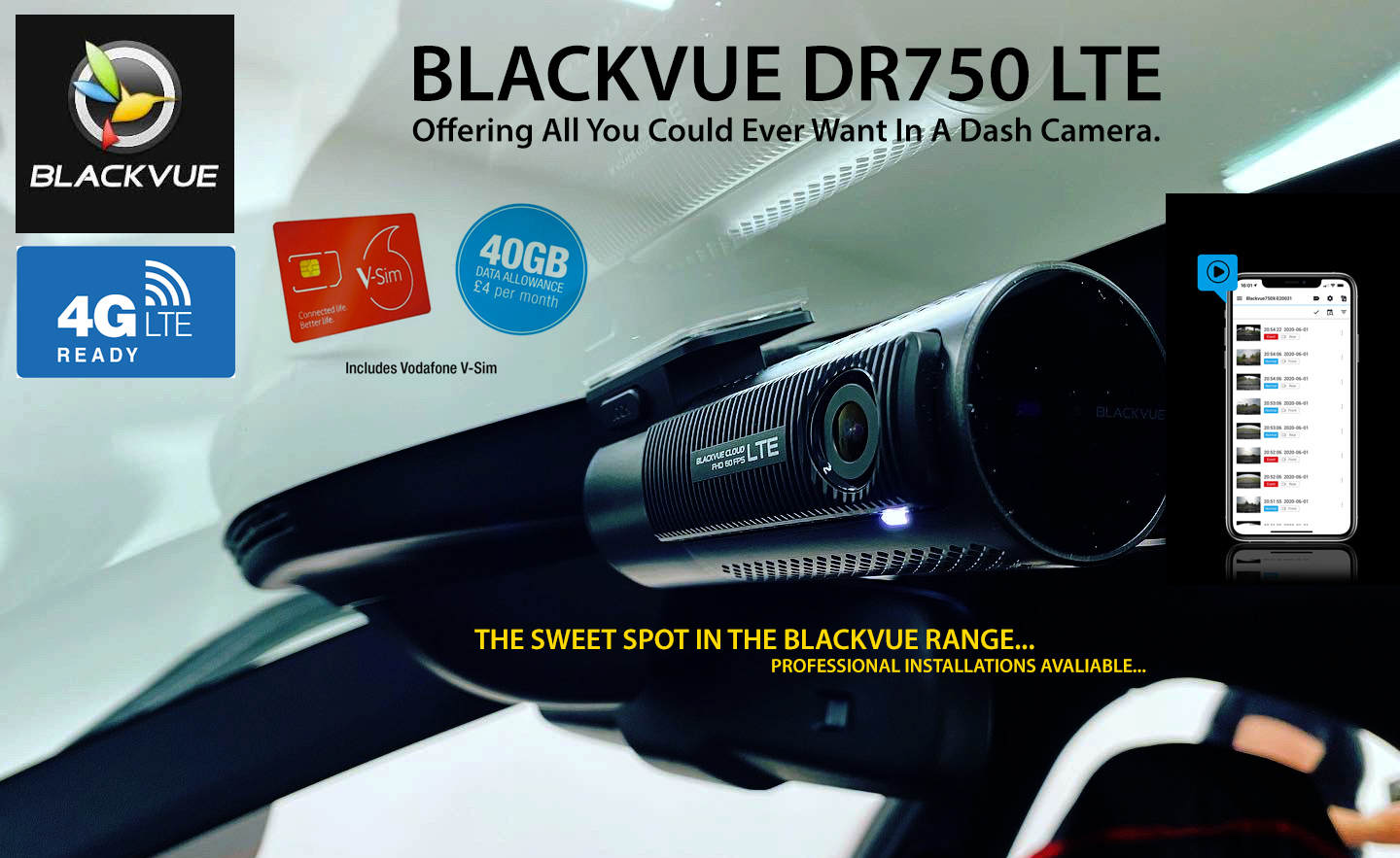 Blackvue DR750 LTE - Ultimate Dash camera With Cloud